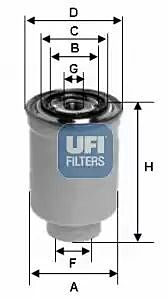 24.017.00 UFI Fuel Filter