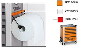 Beta Tools 2400SR/PC-O Paper Roll Holder for C42S Orange Roller Cabs 024002951