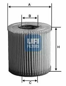 2500800 UFI Oil Filter Oil Cartridge