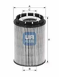 2501000 UFI Oil Filter Oil Cartridge