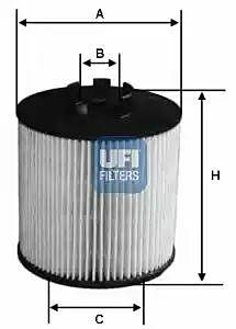 2501200 UFI Oil Filter Oil Cartridge