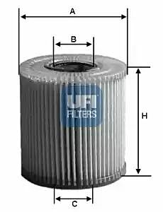 2504000 UFI Oil Filter Oil Cartridge