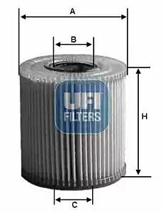 2517100 UFI Oil Filter Oil Cartridge