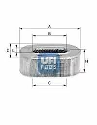 27.071.01 UFI Air Filter
