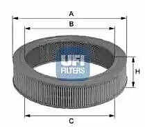 27.133.00 UFI Air Filter