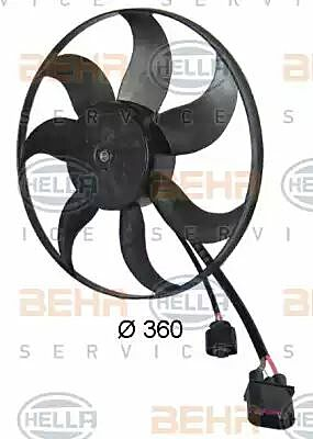 Air Conditioning fan 8EW351039-171 by BEHR Left