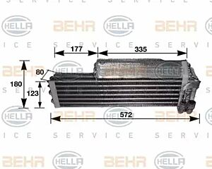 Evaporator Air Conditioning 8FV351210-291 by BEHR