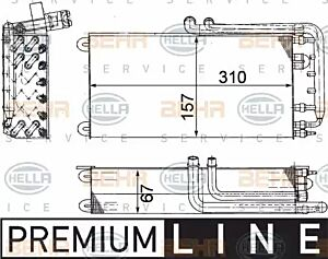 Evaporator Air Conditioning 8FV351210-791 by BEHR