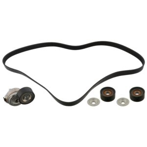 Auxiliary V-Ribbed belt Kit Set 45969 by Febi Bilstein