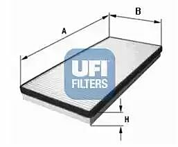 53.001.00 UFI Interior Air Cabin/ Pollen Filter