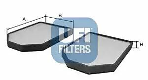 53.009.00 UFI Interior Air Cabin/ Pollen Filter Set Of 2