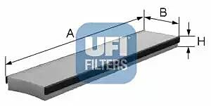53.016.00 UFI Interior Air Cabin/ Pollen Filter