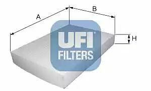 53.019.00 UFI Interior Air Cabin/ Pollen Filter