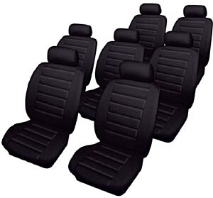 Car Seat Covers Leatherlook Set Black Seat Alhambra 20002010 66583 COSMOS