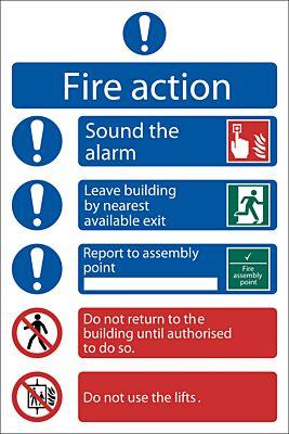 Draper 'Fire Action Procedure' Mandatory Sign | 72156