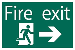 Draper 'Fire Exit Arrow Right' Safety Sign | 72447