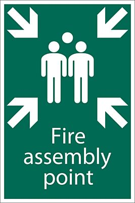 Draper 'Fire Assembly Point' Safety Sign | 72463
