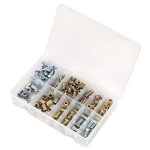 Sealey AB068BPN | Brake Pipe Nut Assortment 200pc - Metric & Imperial