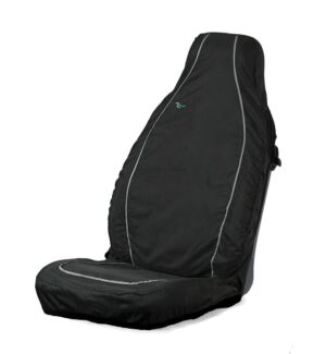 Car Seat Cover Air Bag Compatible - Front Single - Black TOWN & COUNTRY ABCBLK