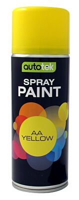 Aerosol Paint - Gloss AA Yellow - 400ml ATOOAAY400 AUTOTEK