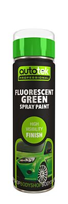 Aerosol Paint - Fluorescent Green - 500ml ATOOFLG500 AUTOTEK
