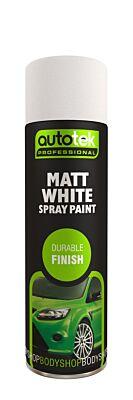 Aerosol Paint - Matt White - 500ml ATOOOMW500 AUTOTEK