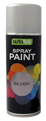 Aerosol Paint - Gloss Silver - 400ml ATOOSIL400 AUTOTEK
