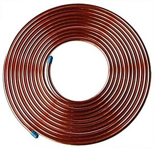1M Fuel Malleable Copper Petrol Pipe Tube 5/16 OD x 0.256 ID Vintage Classic Car