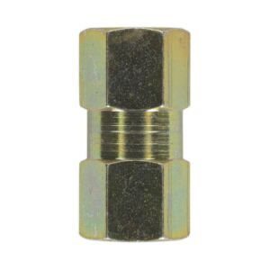 SEALEY BC10100F | Brake Tube Connector M10 x 1mm Female to Female Pack of 10