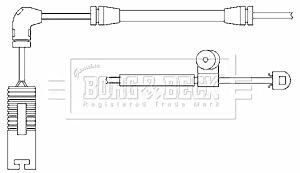 Warning Contact Brake Pad Wear BWL3009 by Borg & Beck