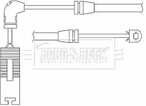 Warning Contact Brake Pad Wear BWL3012 by Borg & Beck