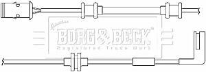 Warning Contact Brake Pad Wear BWL3013 by Borg & Beck