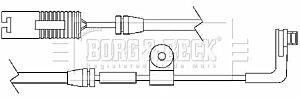 Warning Contact Brake Pad Wear BWL3017 by Borg & Beck