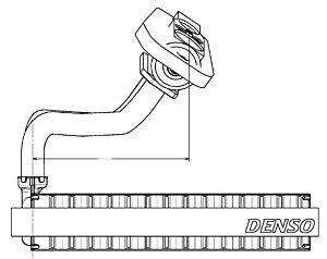 Denso DEV09020 Evaporator