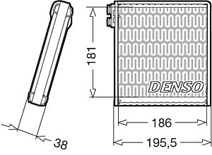 Denso DEV09103 Evaporator