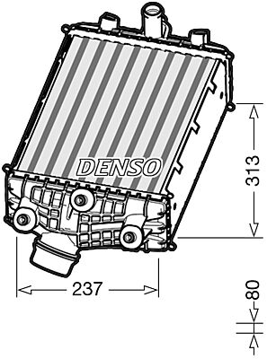 Denso DIT28001 Intercooler Genuine OE Quality Component