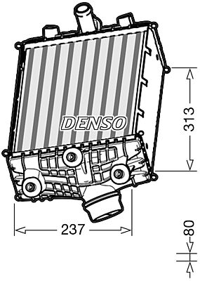 Denso DIT28002 Intercooler Genuine OE Quality Component