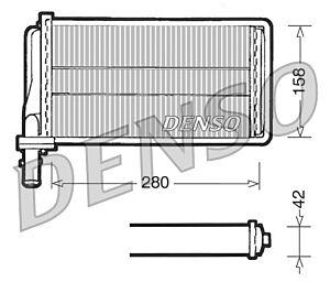 Denso DRR01001 Heater Core