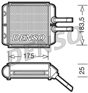 Denso DRR08001 Heater Core