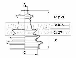 Cv Joint Boot Kit Bellow FCB1002 by First Line