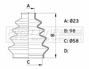 Cv Joint Boot Kit Bellow FCB1008 by First Line