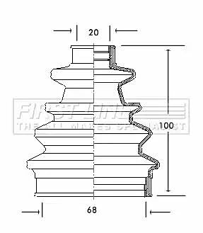 Cv Joint Boot Kit Bellow FCB2040 by First Line