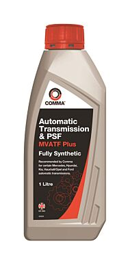 MultiVehicle Automatic Transmission & Power Steering Fluid 1 Litre MVATF1L COMMA
