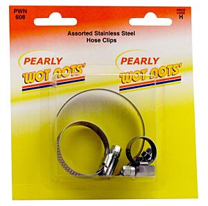 Assorted S/S Hose Clips - Pack of 3 PWN608 WOT-NOTS