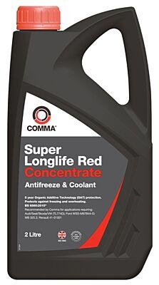 Super Longlife Antifreeze & Coolant - Concentrated - 2 Litre SLA2L COMMA