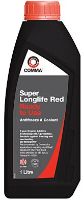 Super Longlife Antifreeze & Coolant - Ready To Use - 1 Litre SLC1L COMMA