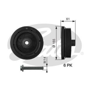 GATES Torsional Vibration Damper Kit TVD1021A For Crankshaft Pulley