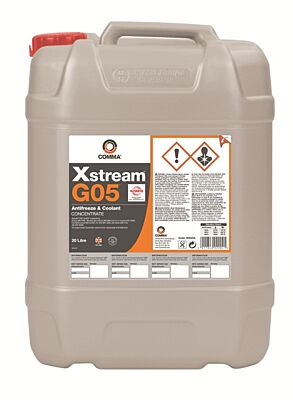 Xstream G05 Heavy Duty Antifreeze & Coolant Concentrated 20 Litre XHD20L COMMA