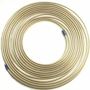 25ft x Malleable Cupro Copper Nickel Brake Petrol Car Pipe 1/4