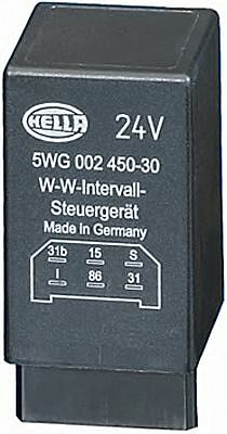 Relay, wipe-/wash interval without holder 5WG002450-301 24v Electronics by Hella